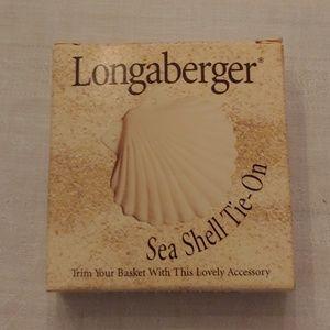 Longaberger Sea Shell Tie-On